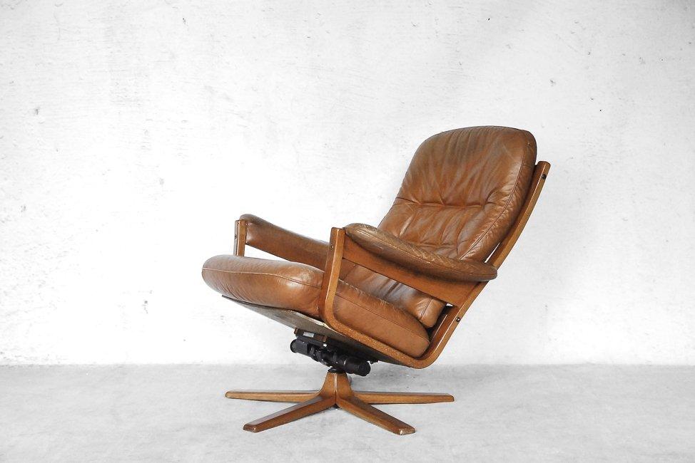 Swedish Swivel Lounge Chair From Gate Möbel, 1960s