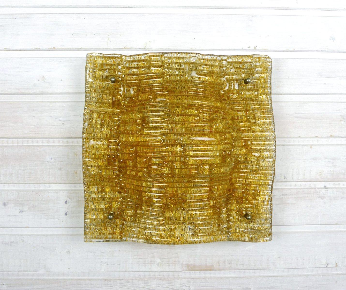 Glas Wandlampe von Simon & Schelle für Sische, 1960er