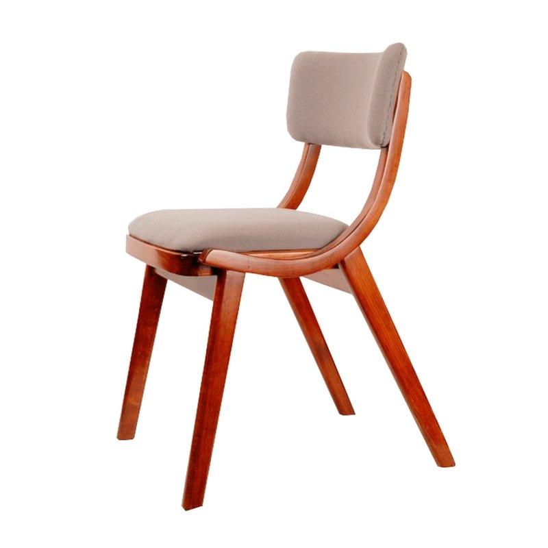 Polnischer skoczek stuhl aus holz mit wollbezug von for Designklassiker stuhl holz