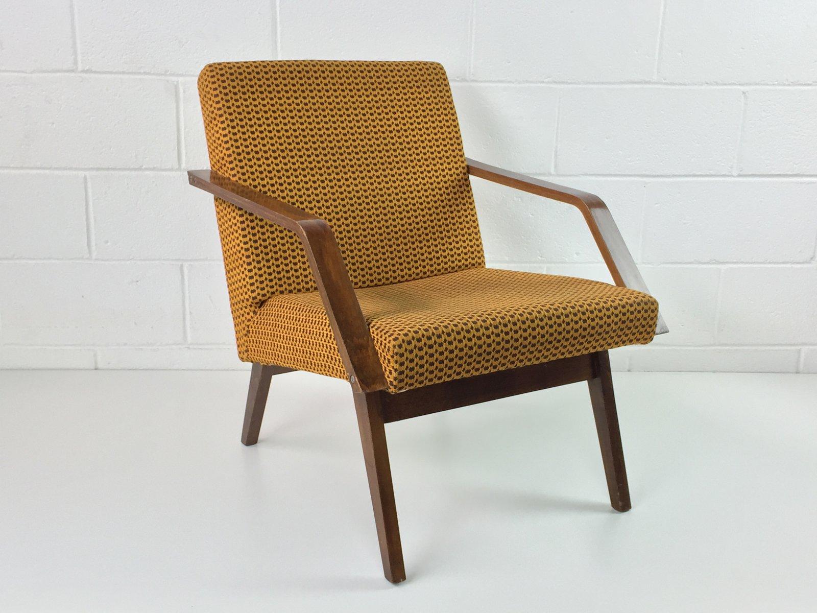 Vintage Sessel in Safrangelb