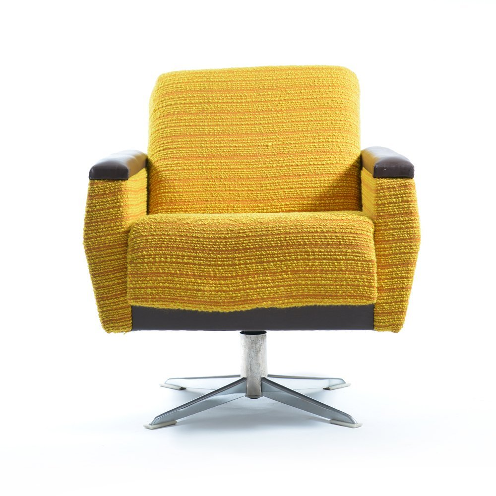 A Shapely Swivel Seat Inspired By Mid Century Design Our: Bright Swivel Chair From UP Zavody, 1960s For Sale At Pamono
