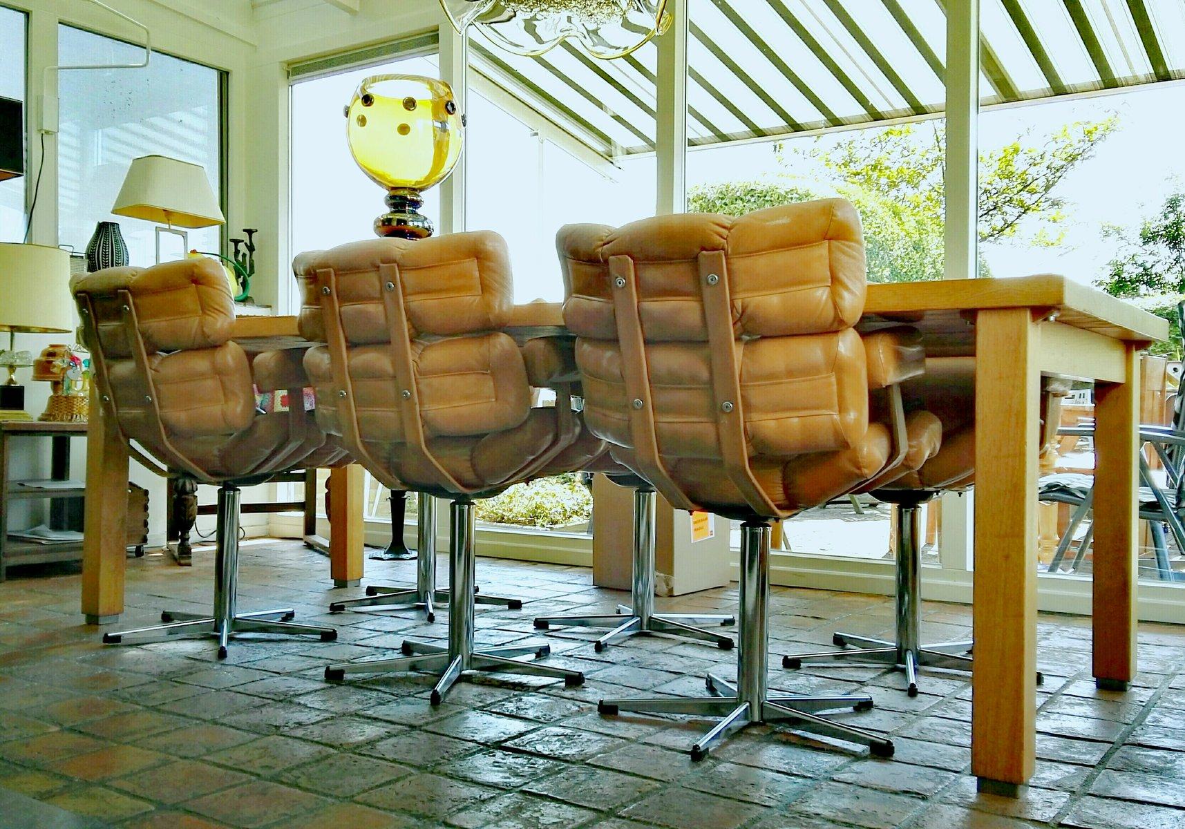 Sedie da pranzo francia anni 39 60 set di 6 in vendita su for Sedie da pranzo