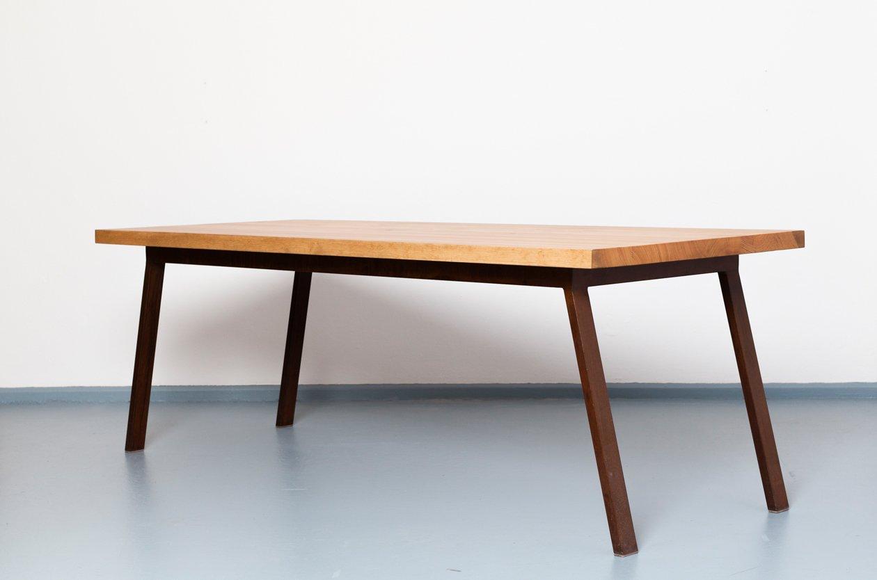 Tavolo valkenburg in legno riciclato e acciaio di for Tavolo legno acciaio