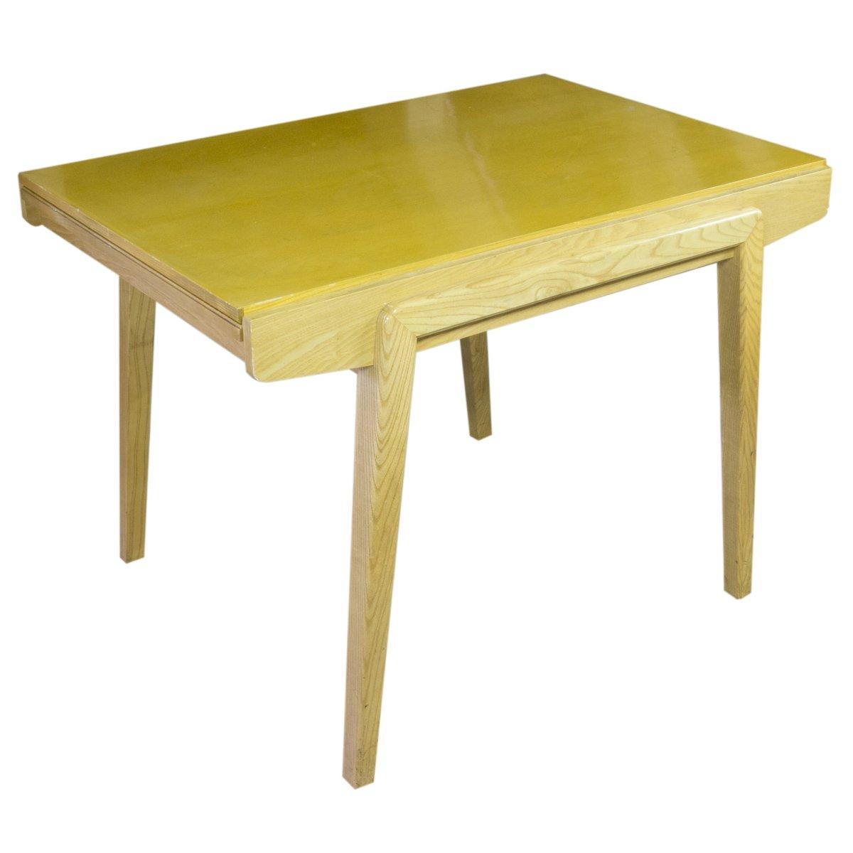 table de salle manger vintage pliable avec quatre chaises chrom e r publique tch que 1960s. Black Bedroom Furniture Sets. Home Design Ideas