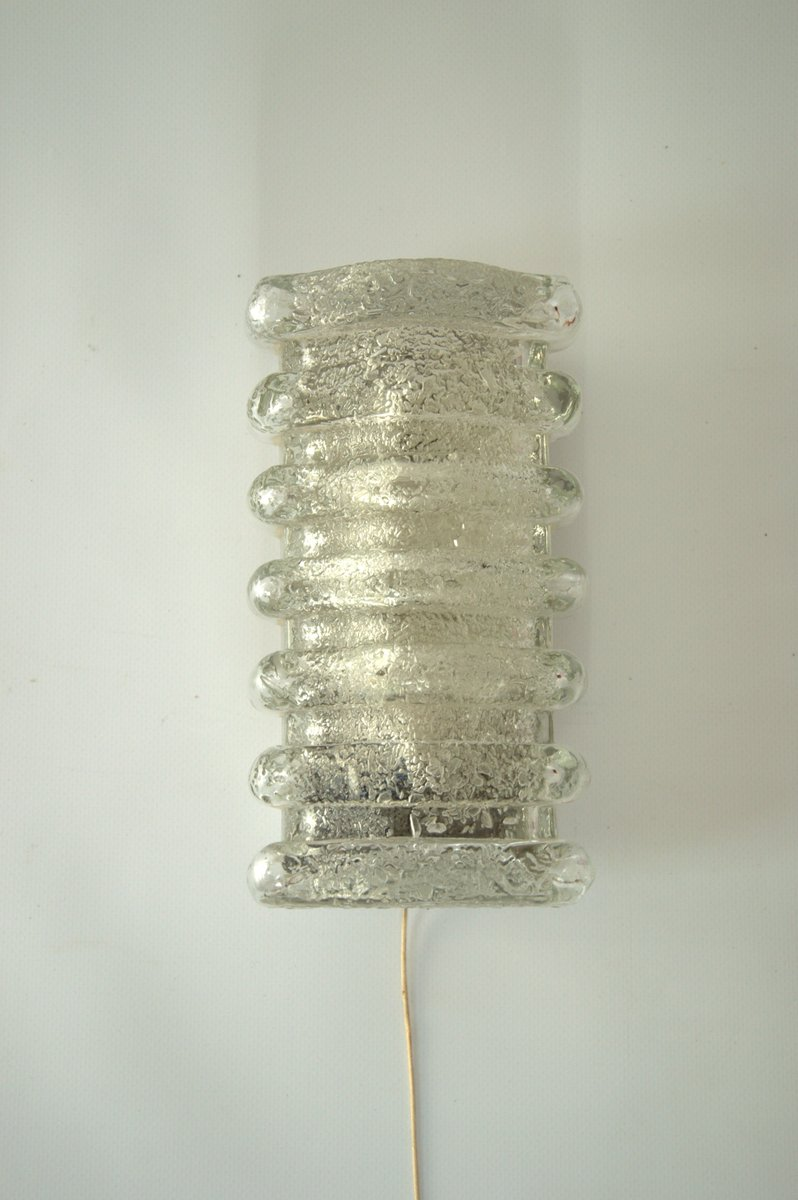Mid-Century Texturglas Wandlampe von Limburg, 1970er