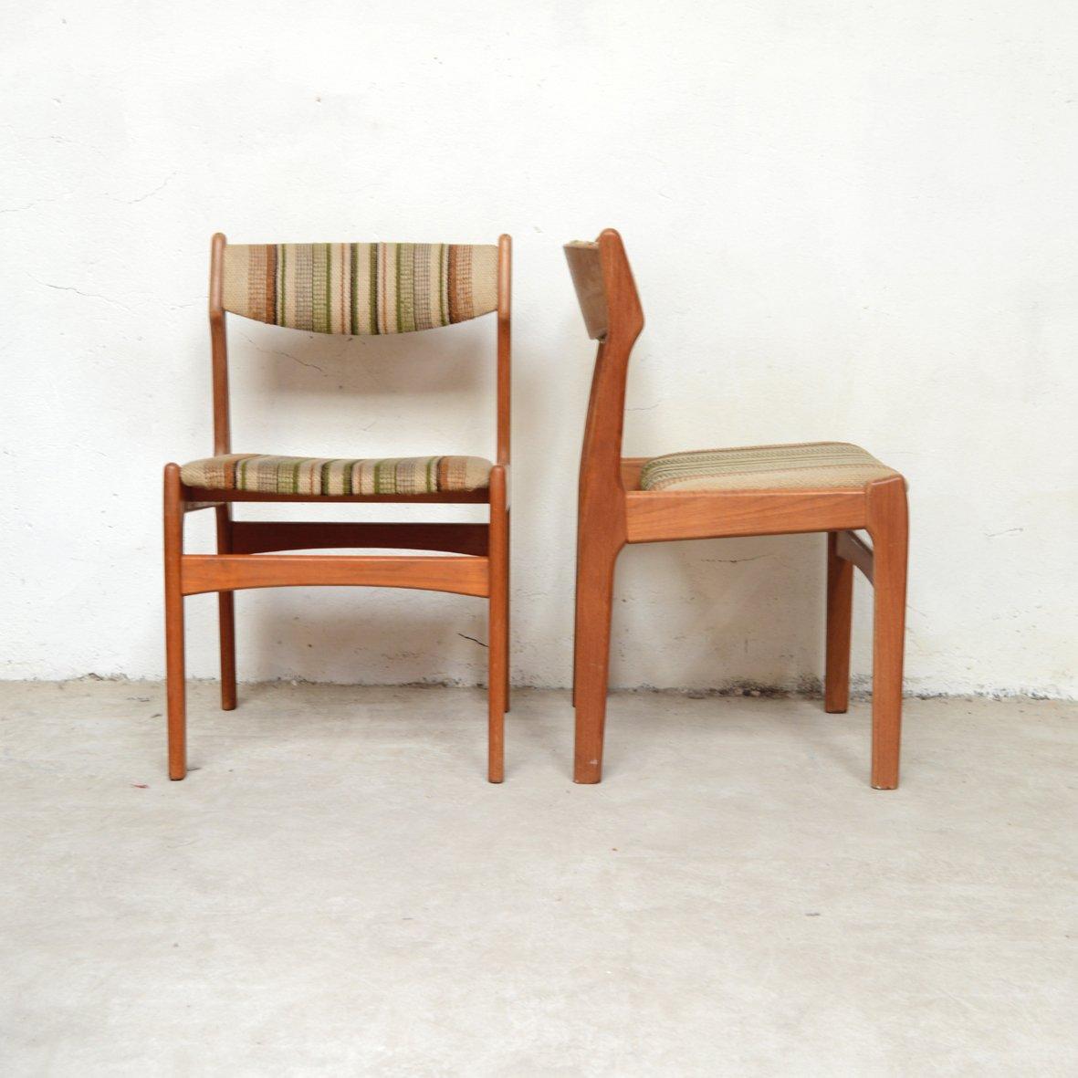 deutsch skandinavische esszimmerst hle 1960er 4er set bei pamono kaufen. Black Bedroom Furniture Sets. Home Design Ideas