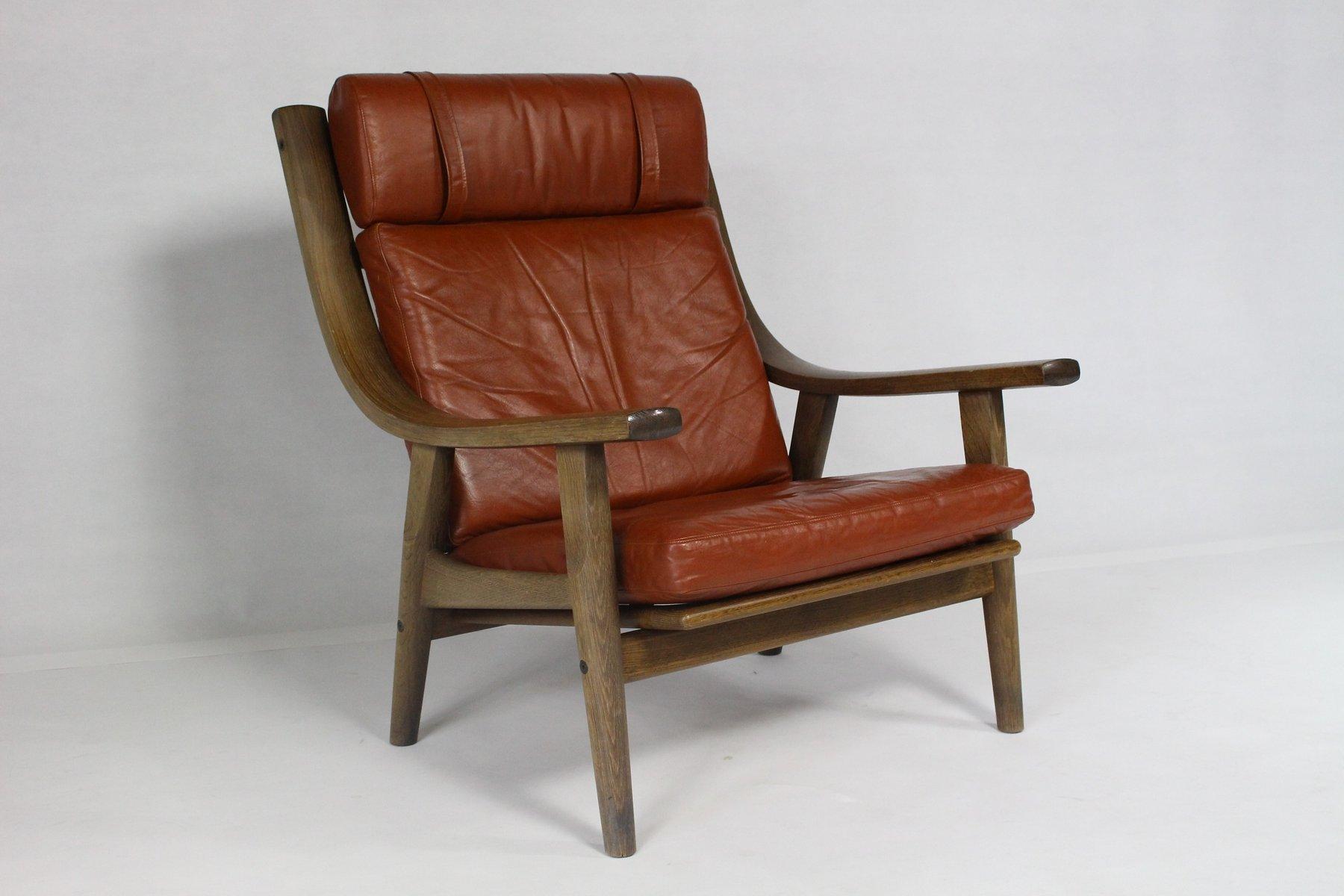 d nischer ge 530 vintage sessel mit hoher r ckenlehne von. Black Bedroom Furniture Sets. Home Design Ideas