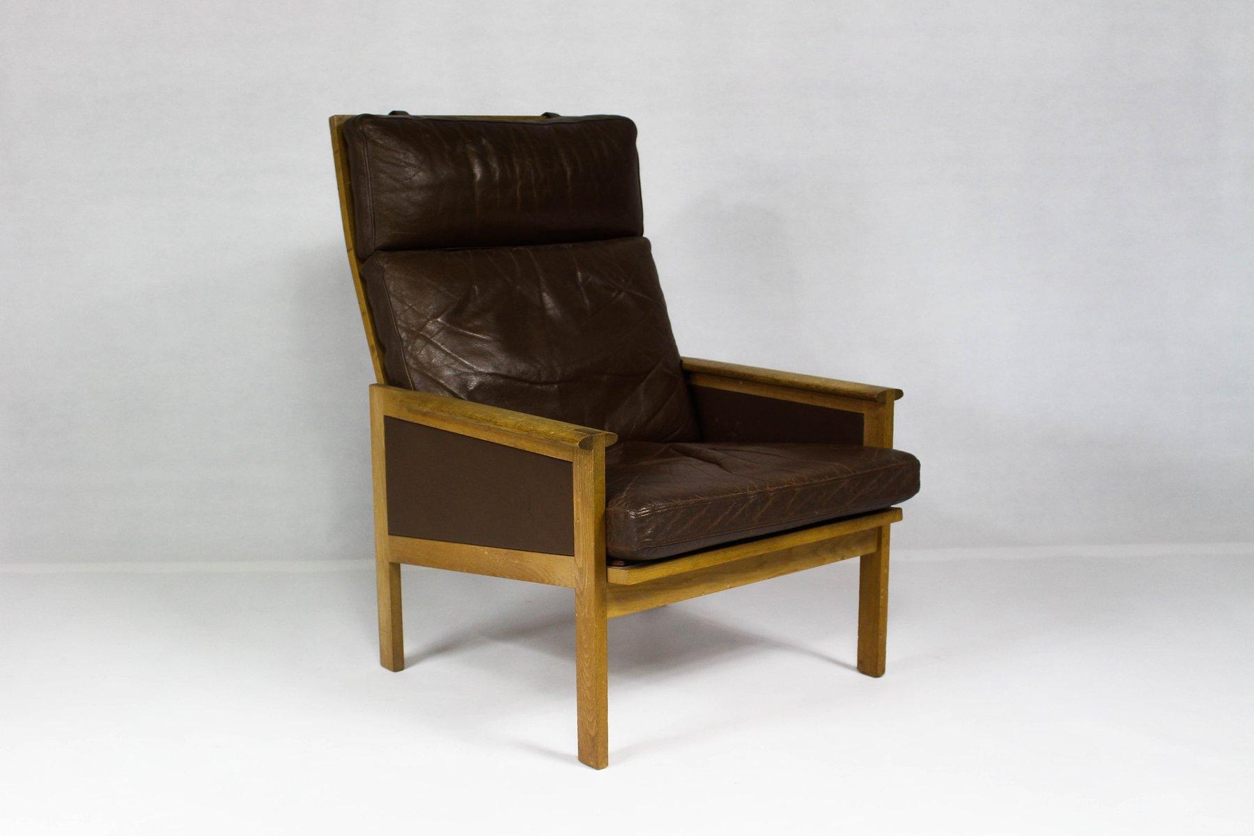 Schwarzer Dänischer Vintage Capella Sessel mit Hoher Rückenlehne von I...
