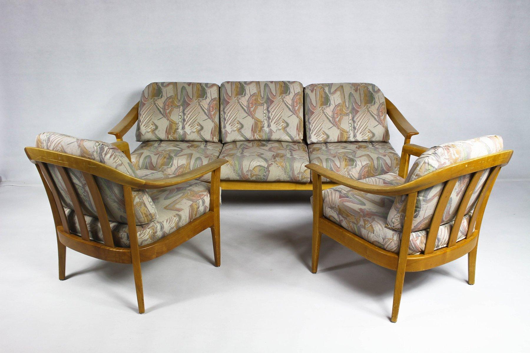 Deutsches Vintage Wohnzimmer Set aus Kirschholz von Wilhelm Knoll ...