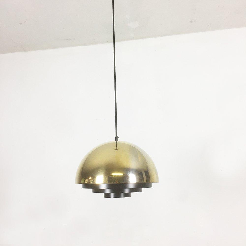 Golden Line 24k Gold Milieu Lampe von Jo Hammerborg für Fog & Morup, 1...