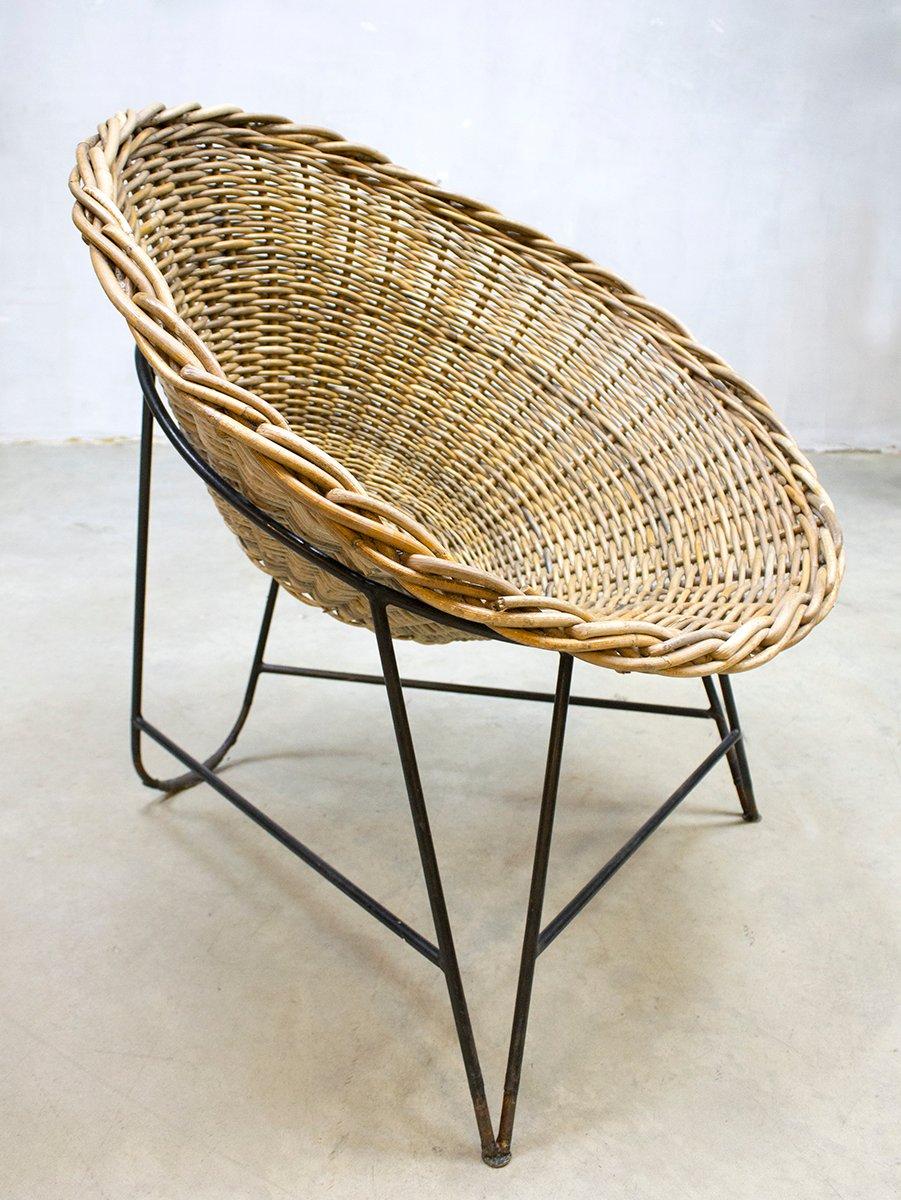 chaise basket rda vintage en rotin en vente sur pamono. Black Bedroom Furniture Sets. Home Design Ideas