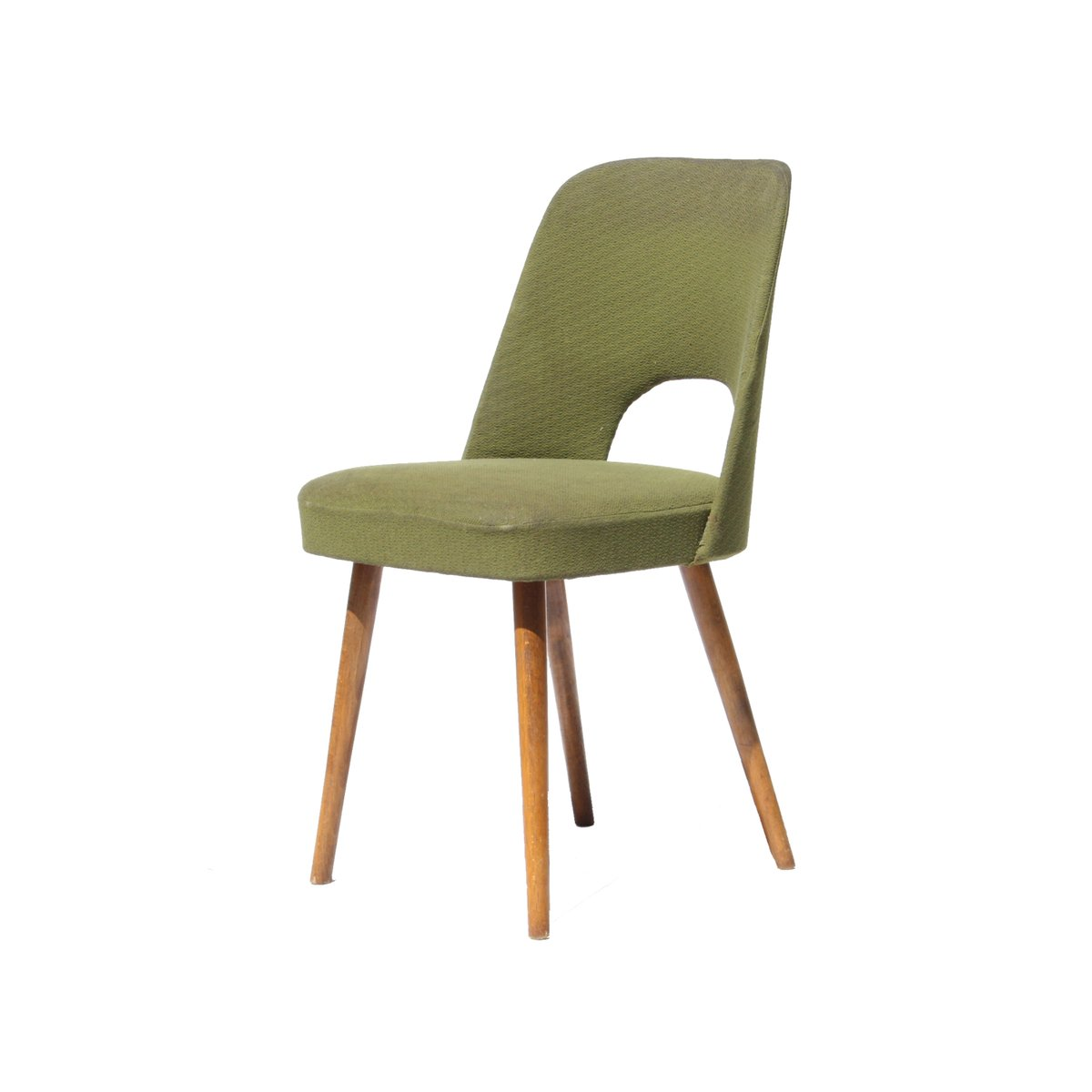 Mid century czech green dining chairs 1960s set of 4