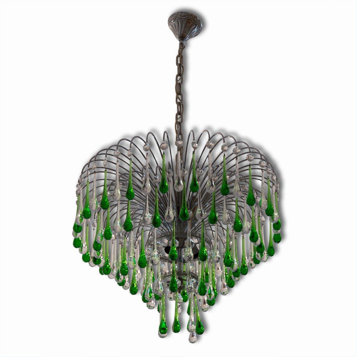 Italian murano crystal teardrop waterfall chandelier 1950s for sale italian murano crystal teardrop waterfall chandelier 1950s aloadofball Images