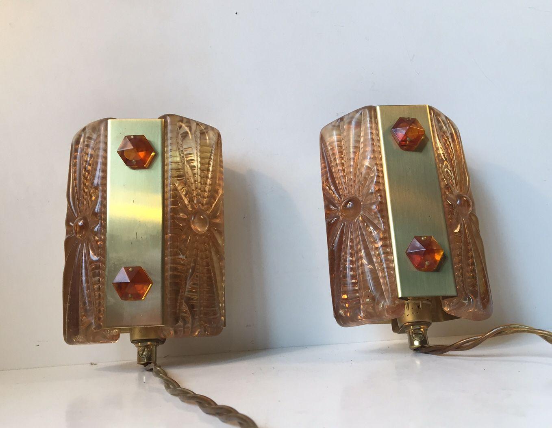 Dänische Mid-Century Modern Wandlampen von Vitrika, 1960er, 2er Set