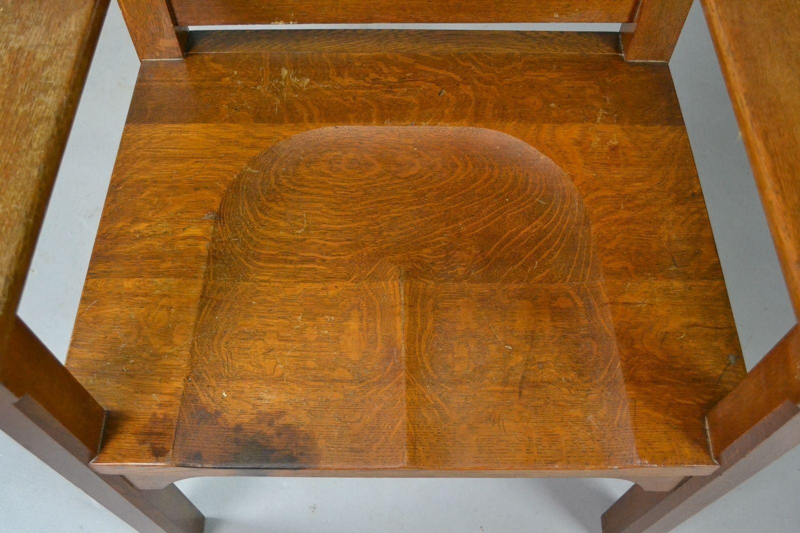gro er stuhl aus massiver eiche bei pamono kaufen. Black Bedroom Furniture Sets. Home Design Ideas