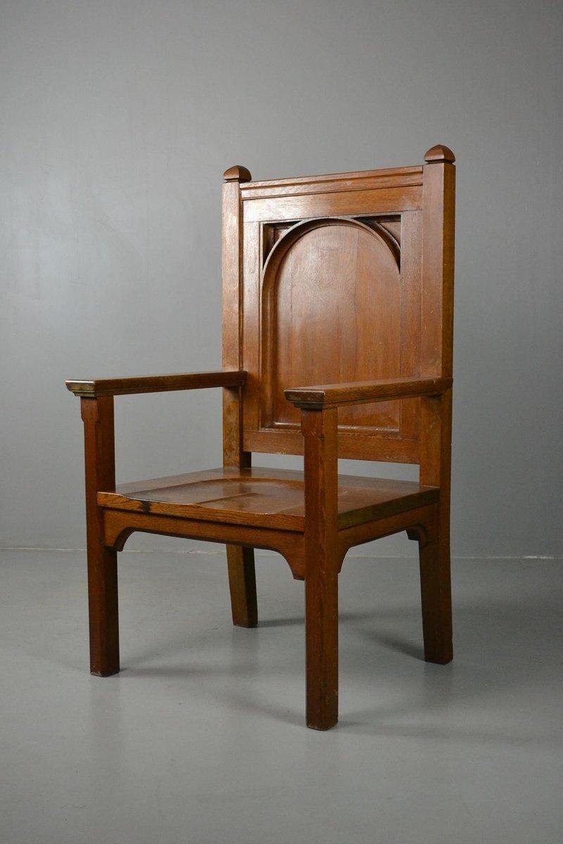 grande chaise en ch ne massif en vente sur pamono. Black Bedroom Furniture Sets. Home Design Ideas