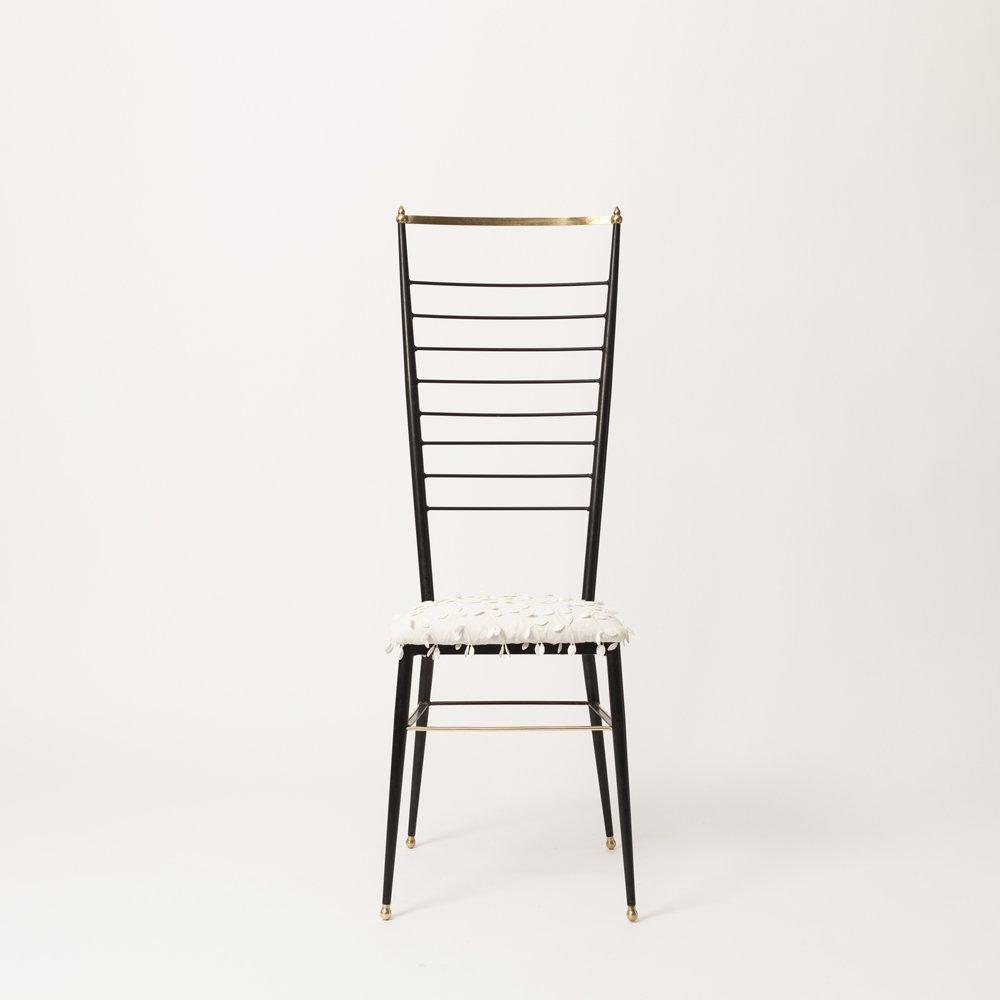 Sedia con schienale alto di gastone rinaldi anni 39 50 in for Sedia design schienale alto