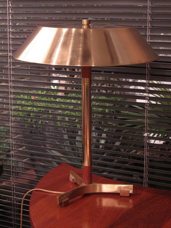 Vintage Präsidenten Schreibtischlampe von Jo Hammerborg für Fog & Møru...
