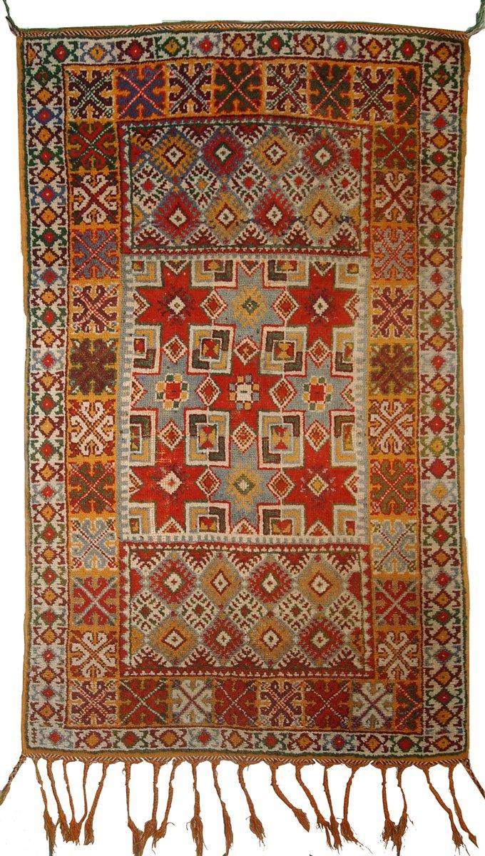 tapis antique berb re fait la main maroc 1900s en vente sur pamono. Black Bedroom Furniture Sets. Home Design Ideas