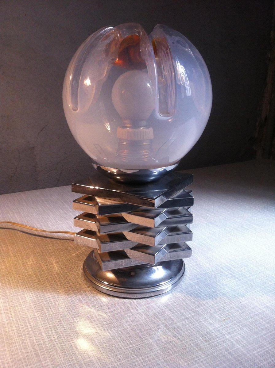 Italienische Space Age Murano Glas Tischlampe von Mazzega, 1970er