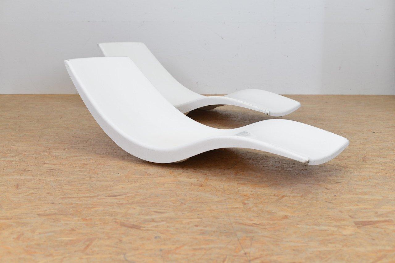 Chaises Longues de Jardin Mid-Century par Charles Zublena, Set de 2 on chaise recliner chair, chaise furniture, chaise sofa sleeper,