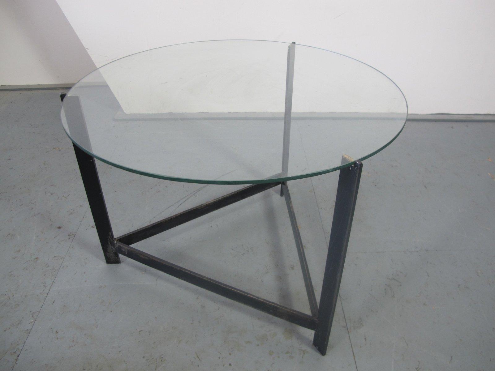Tavolini In Vetro E Acciaio : Tavolino in acciaio vetro e vimini anni 60 in vendita su pamono