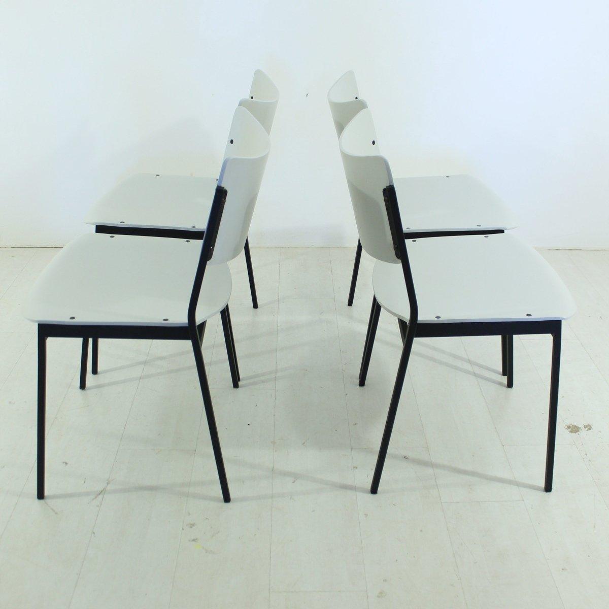vintage st hle 1960er 4er set bei pamono kaufen. Black Bedroom Furniture Sets. Home Design Ideas