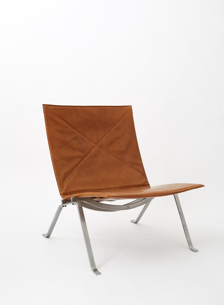 Incroyable Vintage PK22 Chair By Poul Kjærholm For E. Kold Christensen