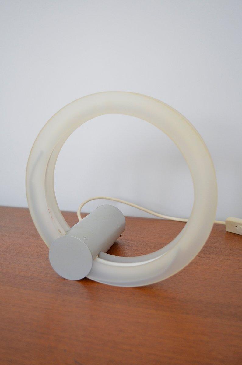 Neon Röhre Tischlampe, 1980er