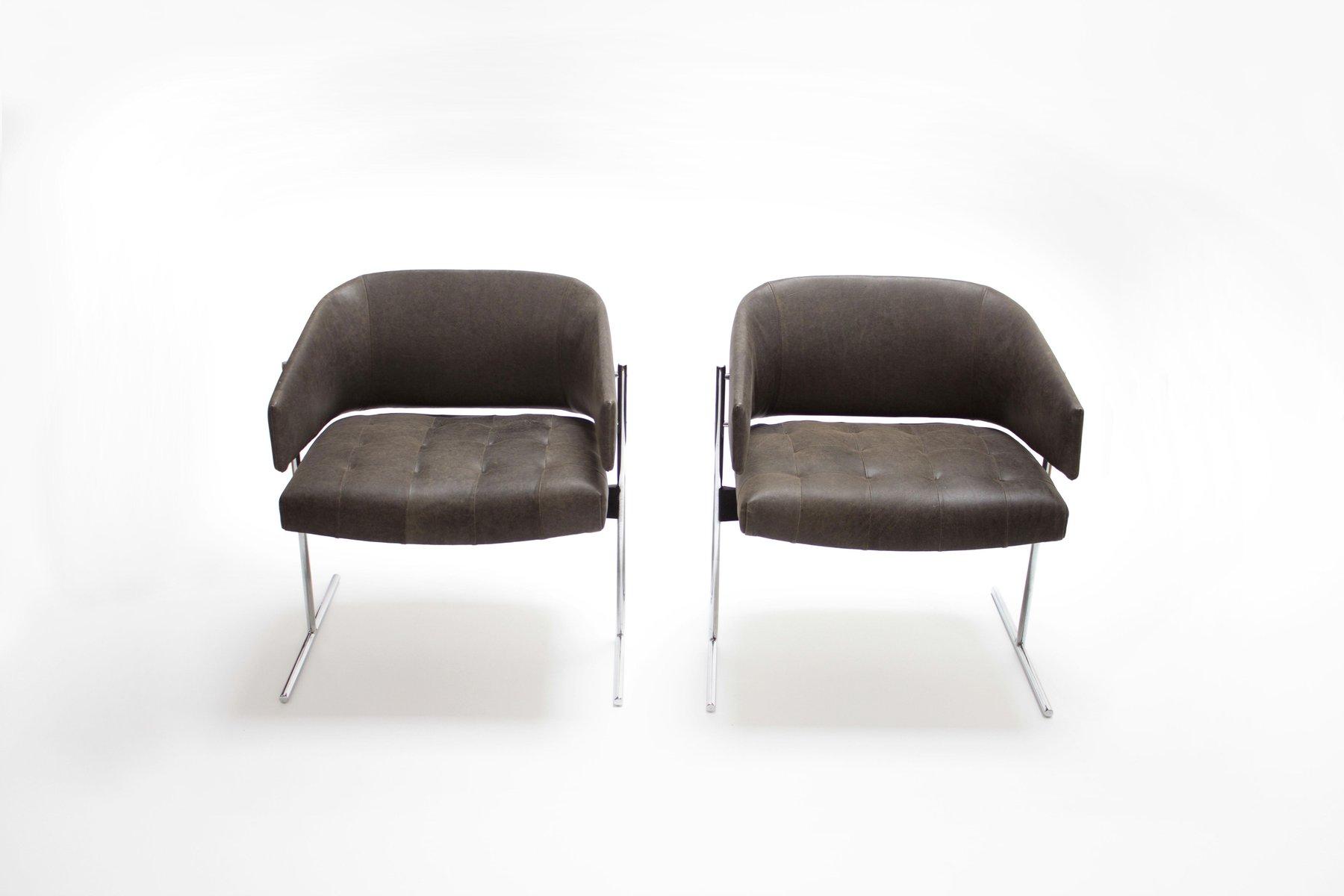 Vintage Senior Sessel von Jorge Zalszupin, 2er Set