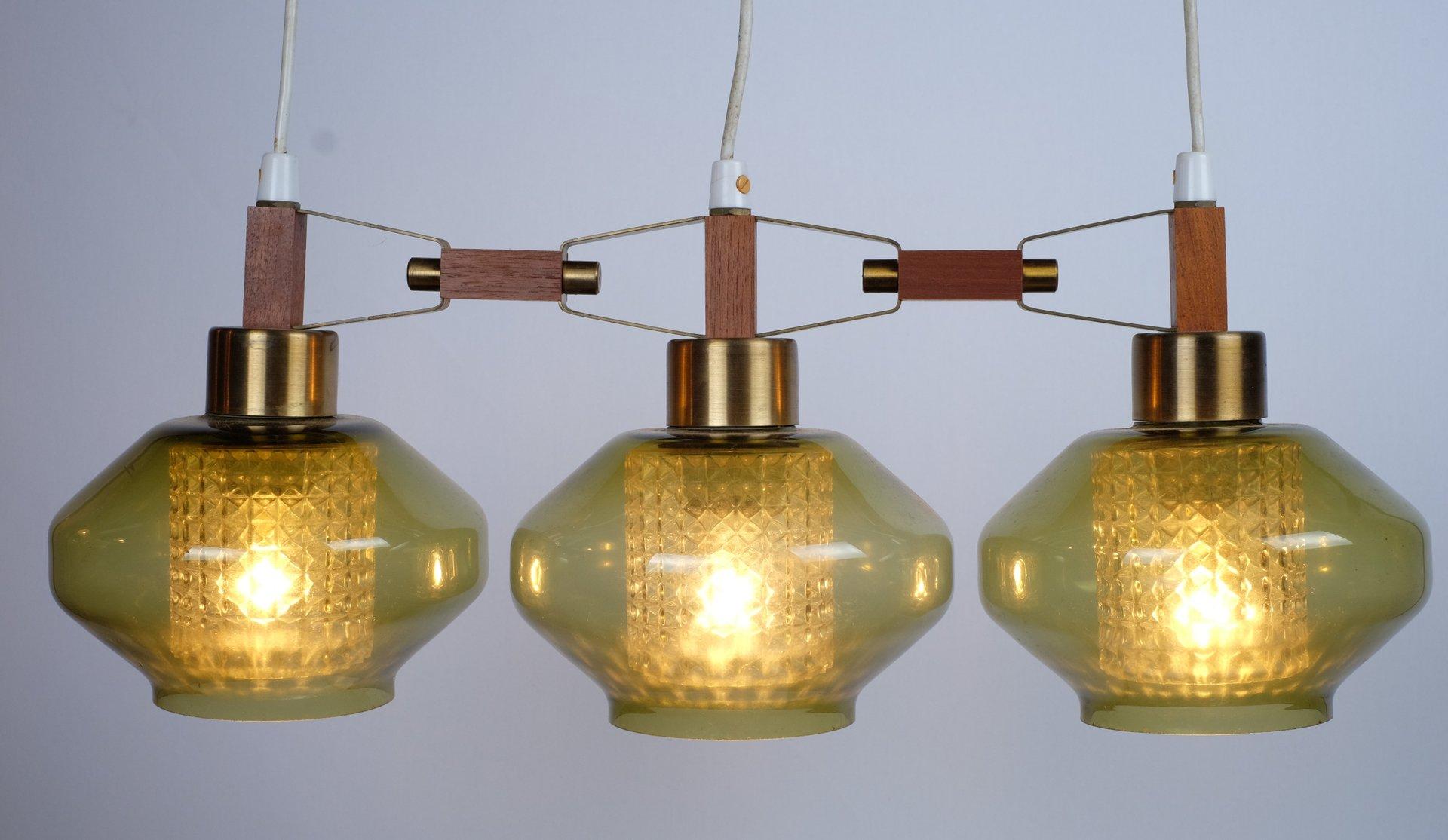 d nische h ngelampe mit drei leuchten 1961 bei pamono kaufen. Black Bedroom Furniture Sets. Home Design Ideas