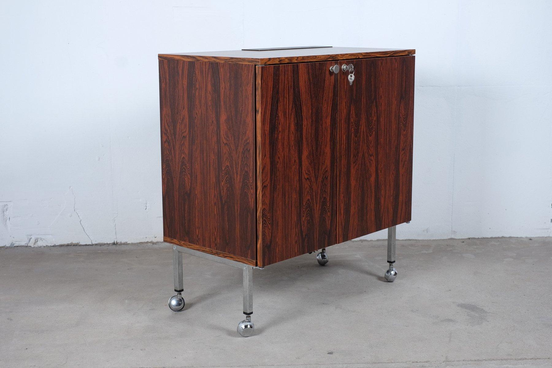 d nische vintage bar aus palisander mit k hlschrank bei pamono kaufen. Black Bedroom Furniture Sets. Home Design Ideas