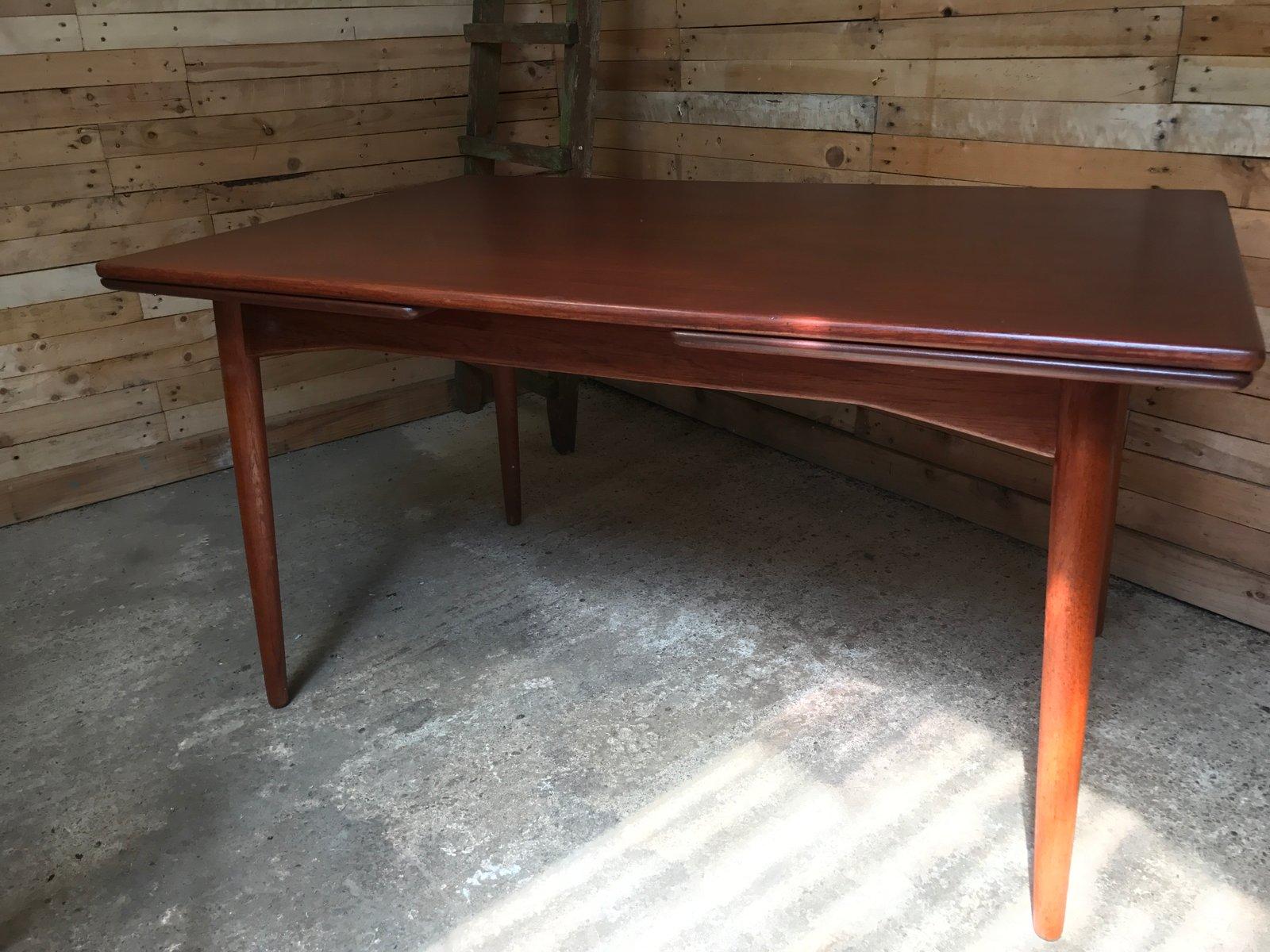 table de salle manger rallonge en teck d 39 omann jun 1950s en vente sur pamono. Black Bedroom Furniture Sets. Home Design Ideas