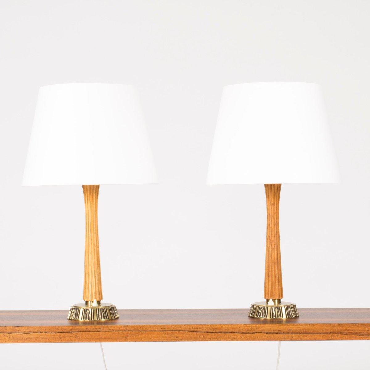 Schwedische Tischlampen von Sonja Katzin für ASEA, 1950er, 2er Set