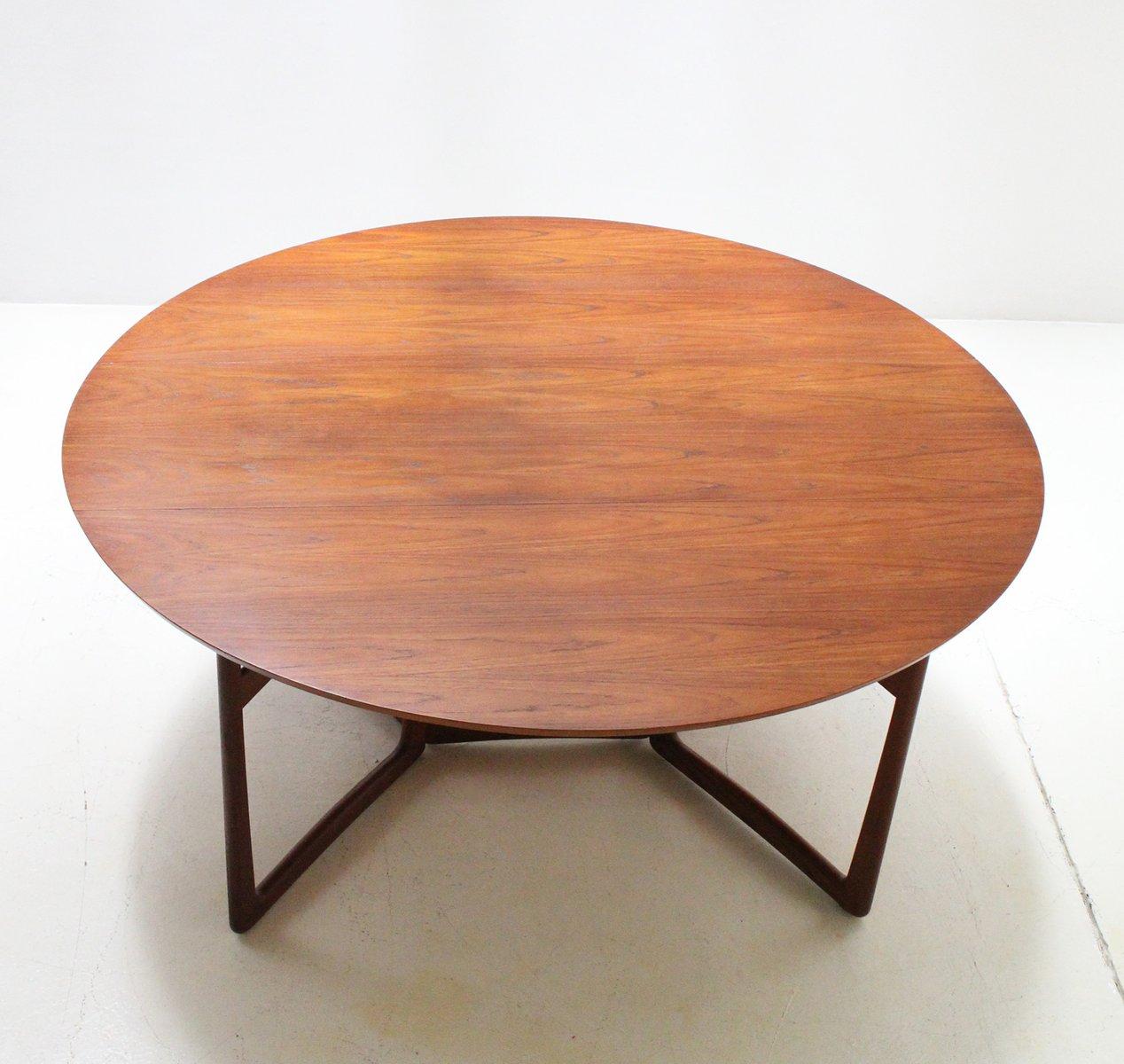 Mesa de comedor abatible de hvidt m lgaard para france daverkosen a os 60 en venta en pamono - Mesa comedor abatible ...