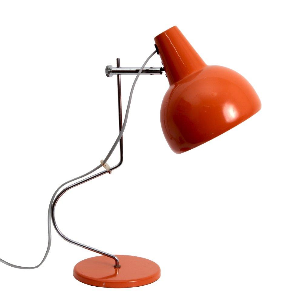 Orangefarbene Tischlampe von Josef Hurka für Lidokov, 1963