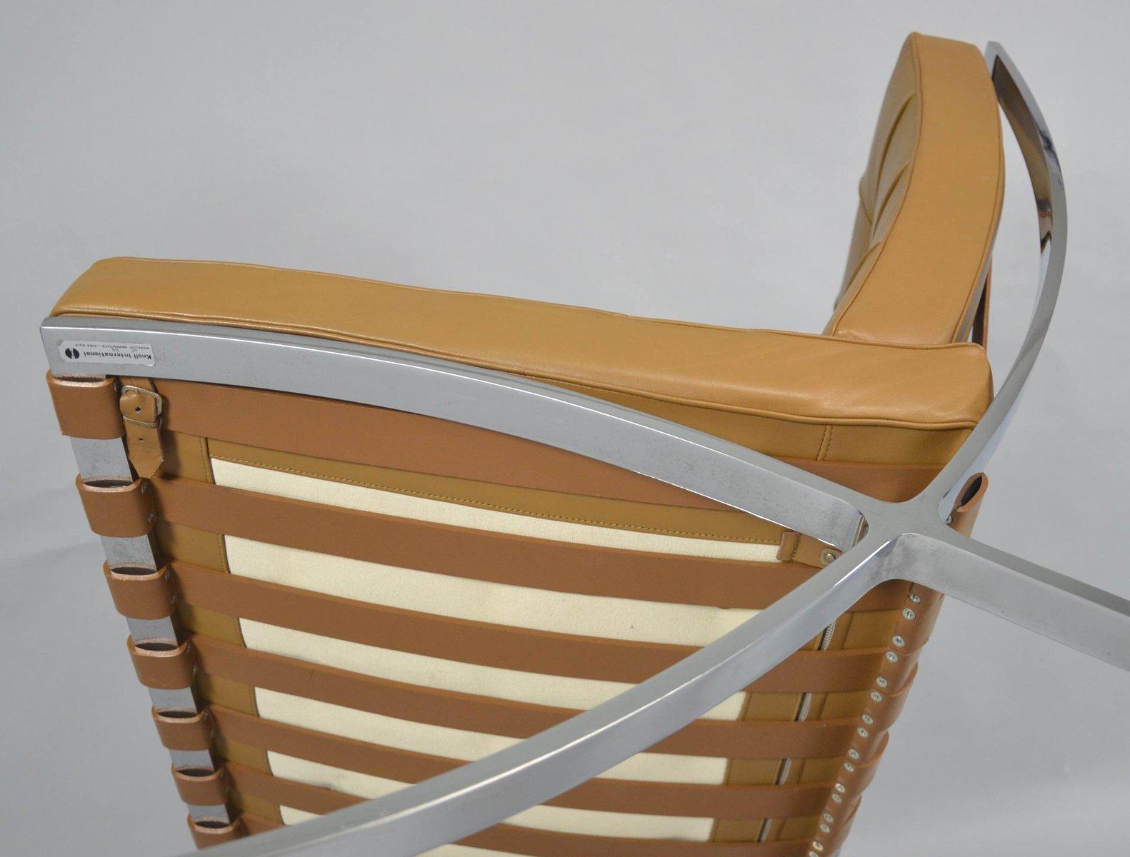 Vintage barcelona chair with ottoman by ludwig mies van for Mies van der rohe barcelona