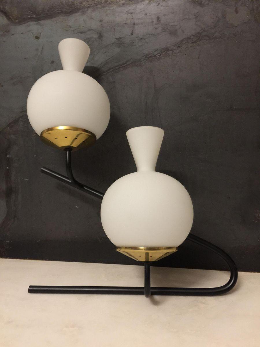 Lampade da parete grandi di stilnovo anni 39 50 set di 2 in vendita su pamono - Lampade da parete di design ...