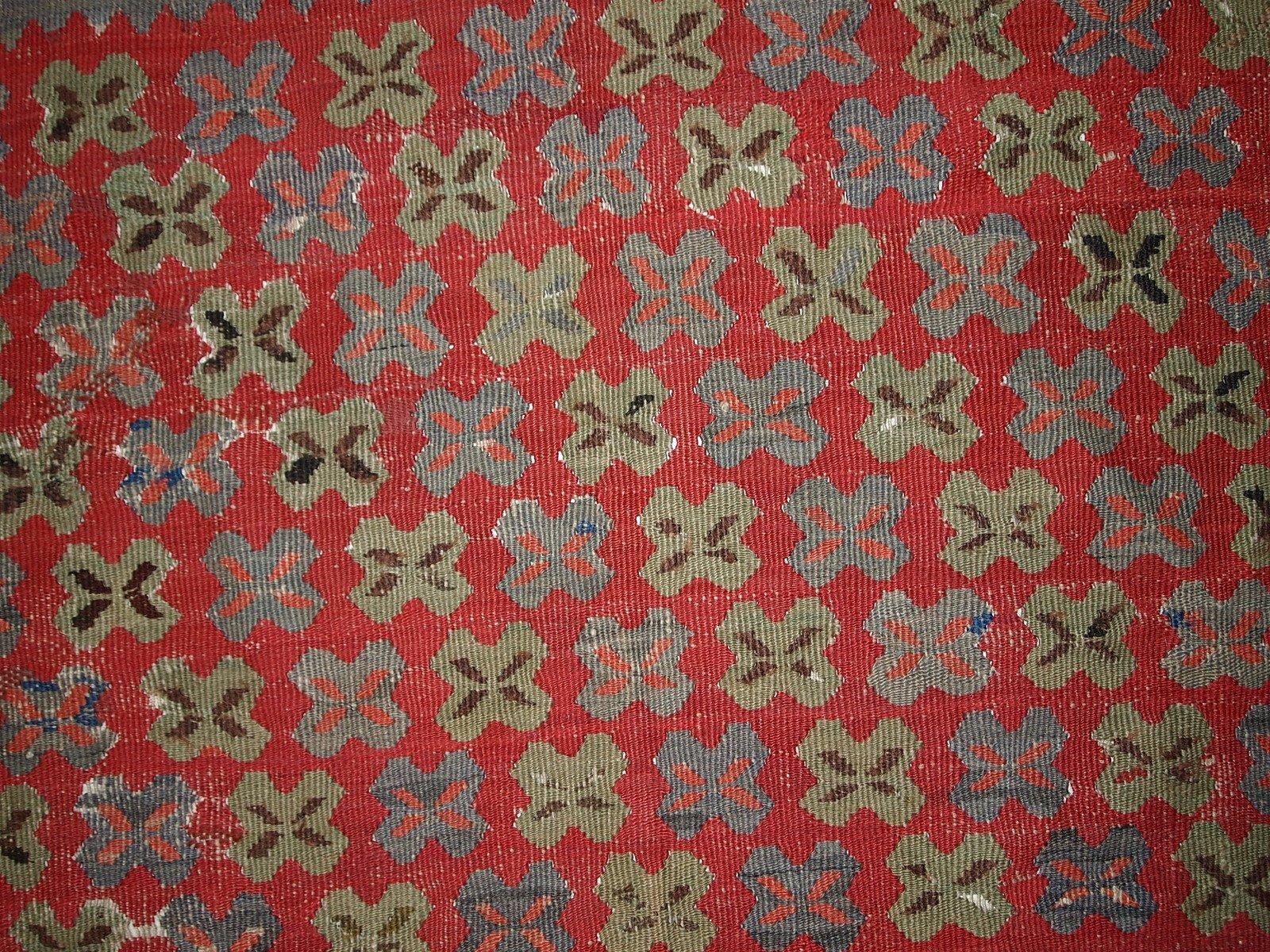 tapis oushak kilim antique fait main turquie 1880s en vente sur pamono. Black Bedroom Furniture Sets. Home Design Ideas