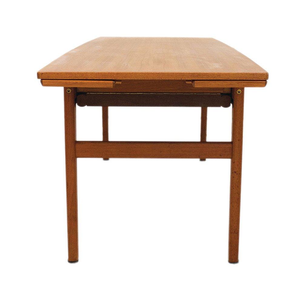 table basse ou table de salle manger extensible elevator en teck danemark 1960s en vente sur. Black Bedroom Furniture Sets. Home Design Ideas