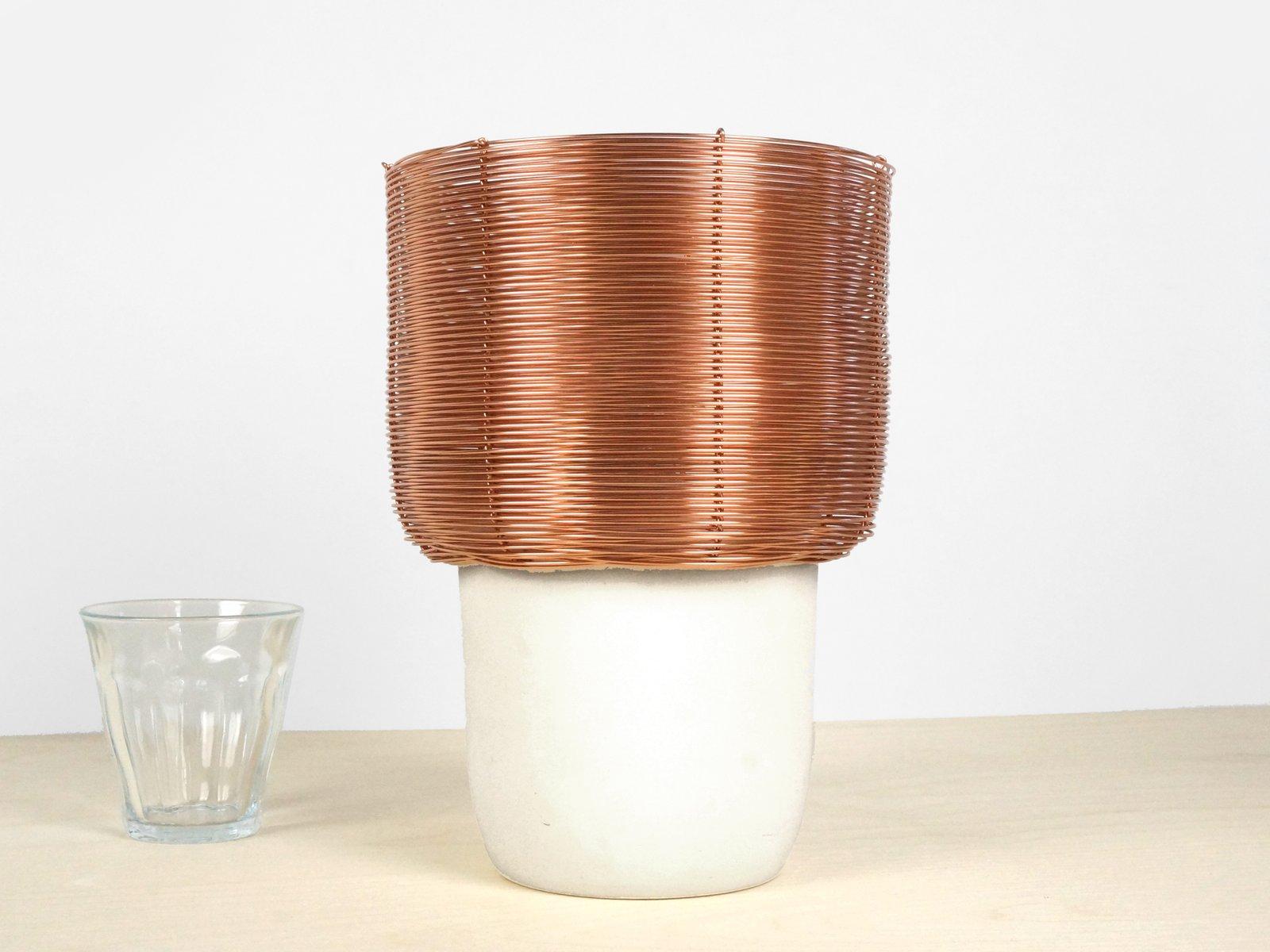 Tischlampe aus Kupferdraht von Studio Lorier