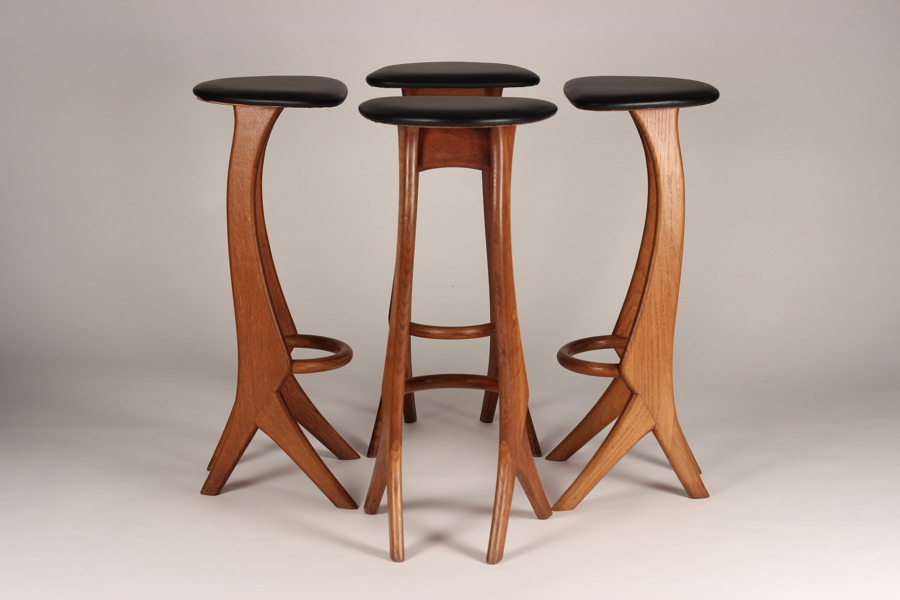 Teak Bar Stools From Reyway 1960s Set Of 2 For Sale At