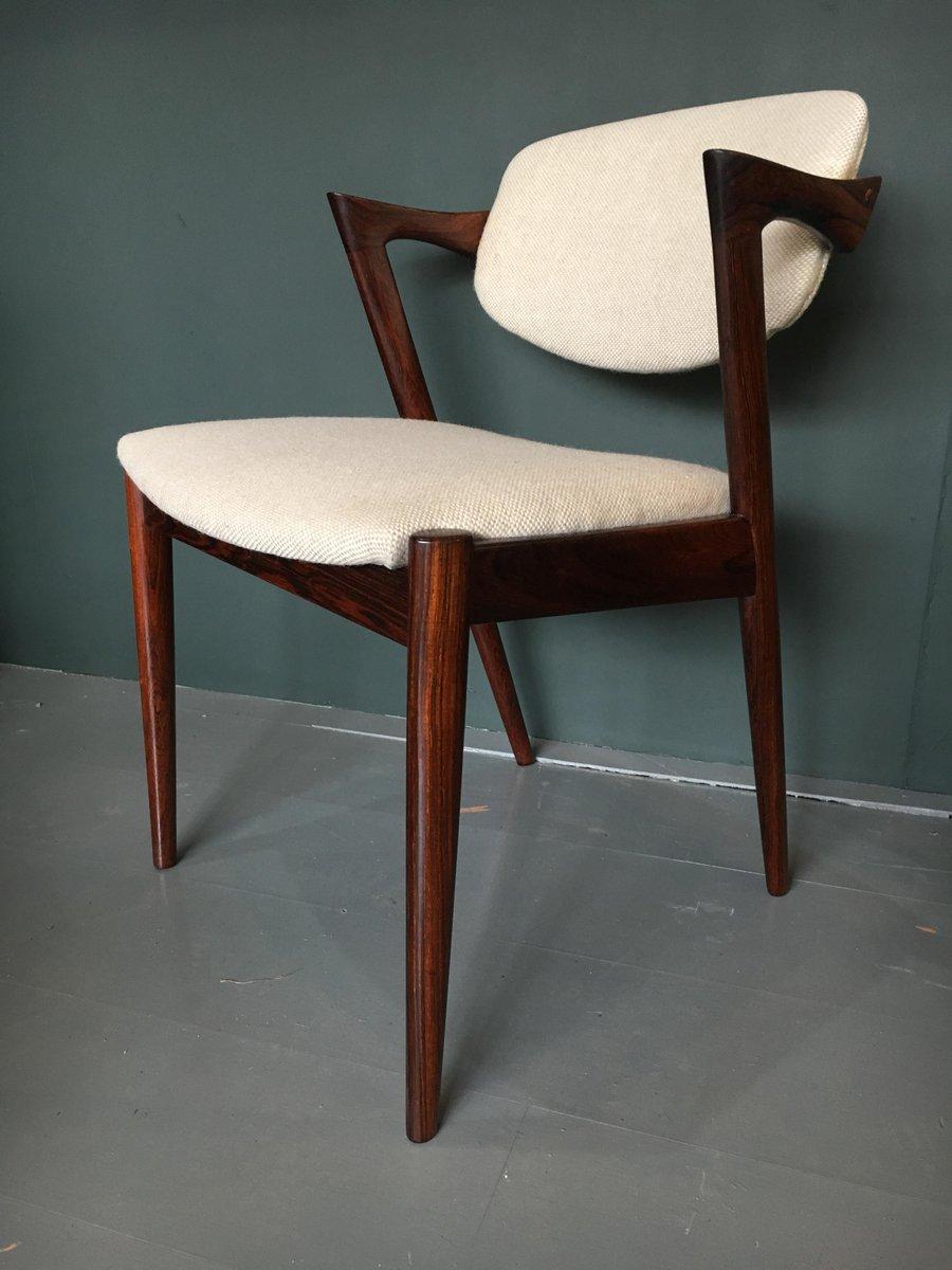 chaises de salle manger mod le 42 par kai kristiansen pour schou andersen 1960s set de 10 en. Black Bedroom Furniture Sets. Home Design Ideas