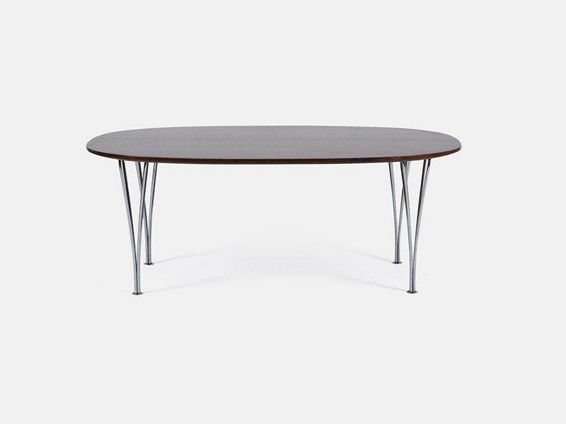 Vintage Super Elliptical Table By Hein, Jacobsen, U0026 Mathsson For Fritz  Hansen