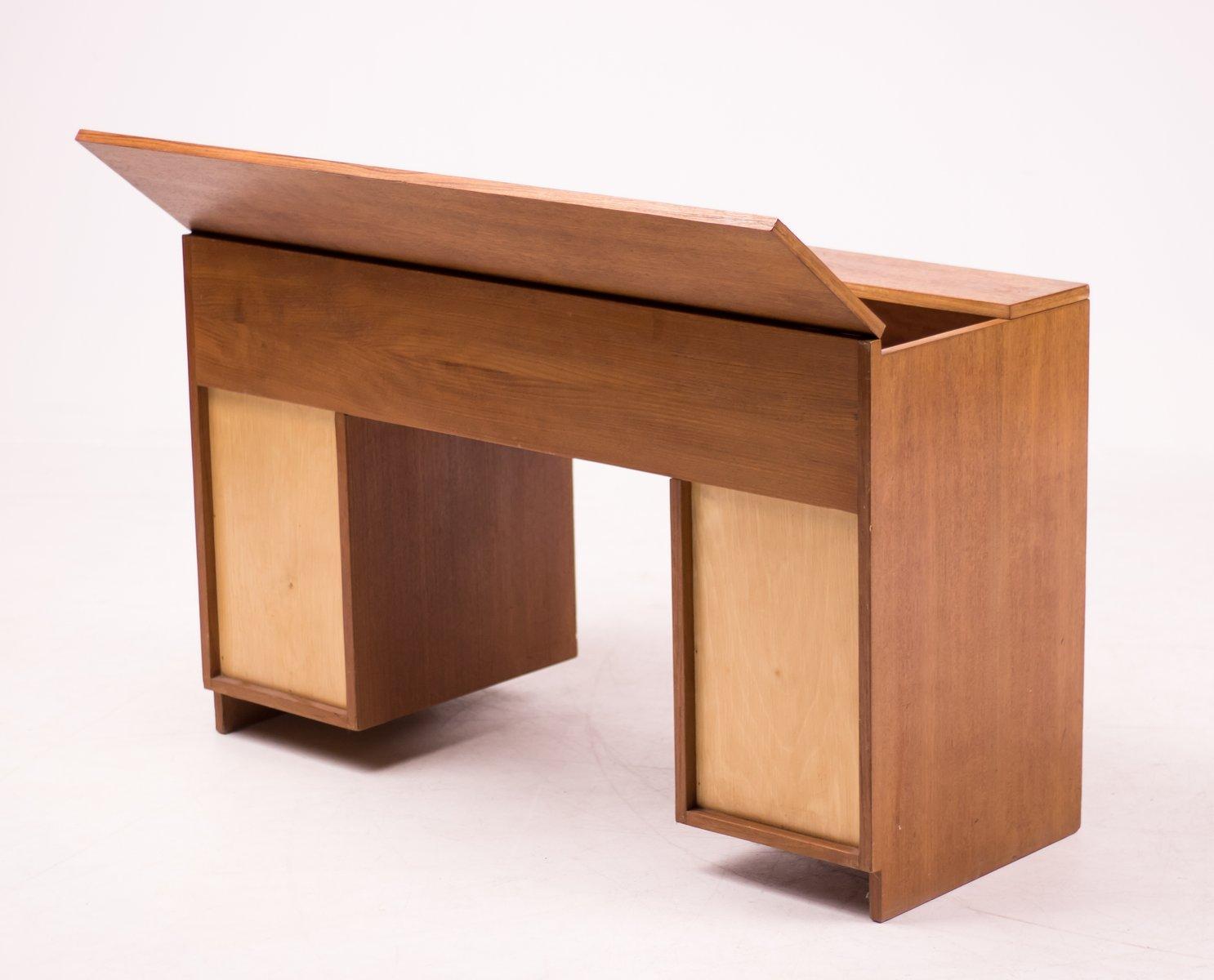 bureau mid century moderne en teck pays bas 1952 en vente sur pamono. Black Bedroom Furniture Sets. Home Design Ideas