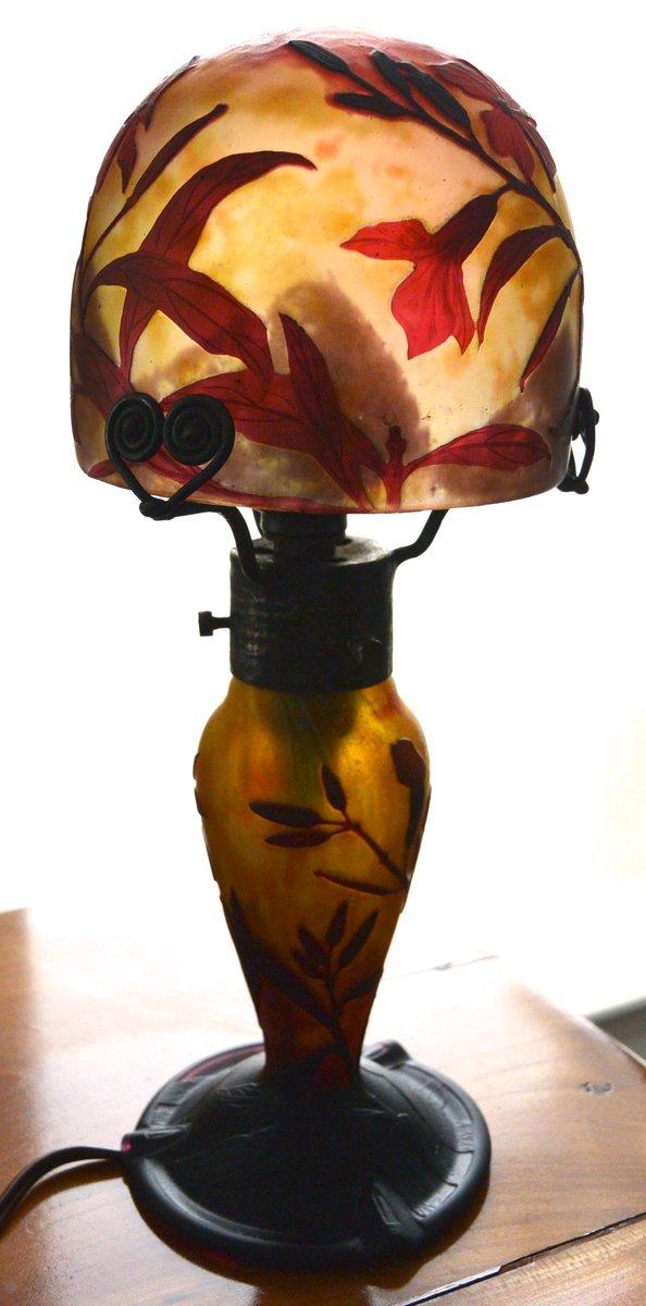 Jugendstil Tischlampe von Daum Nancy, 1910