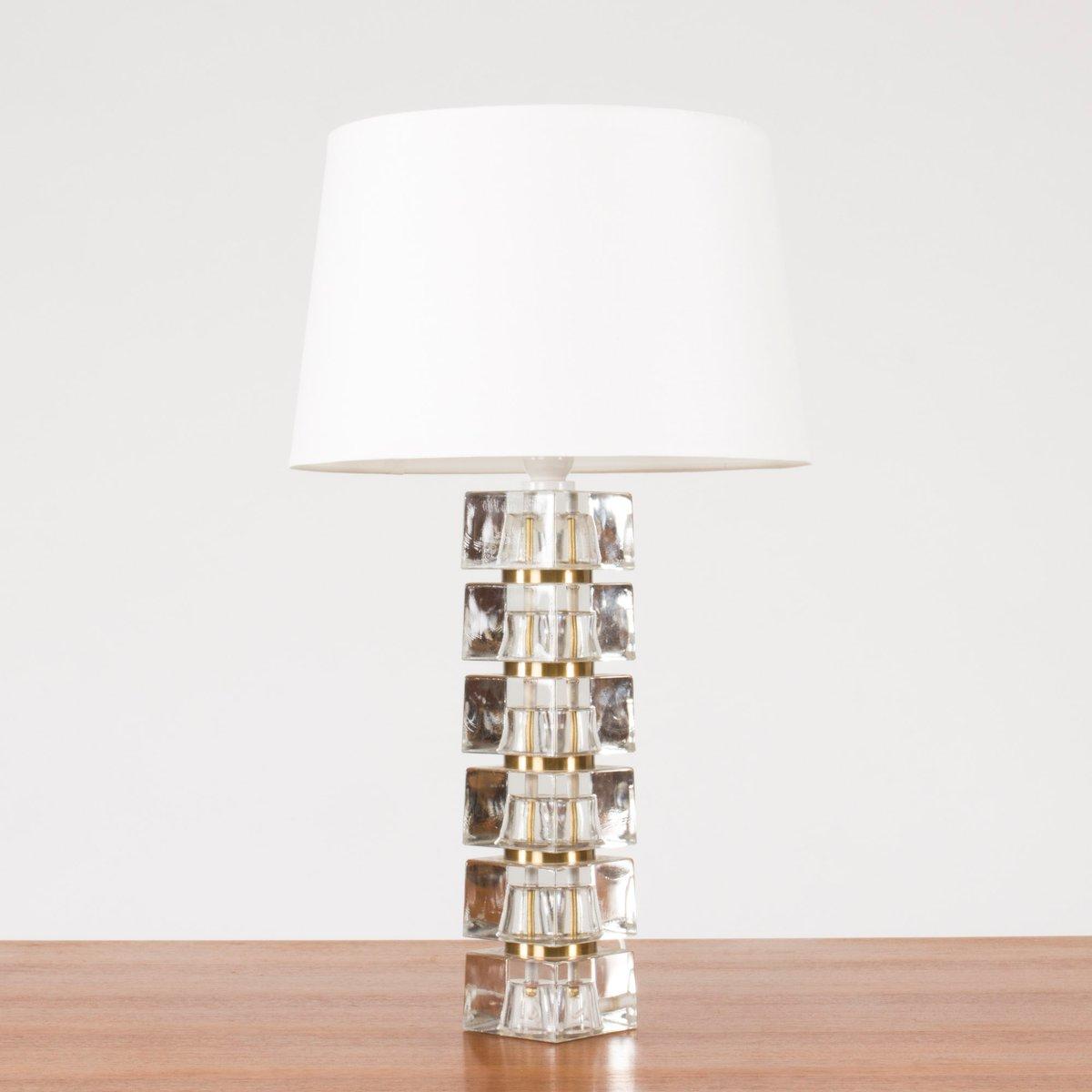 Wunderbar Tischlampe Glasfuß Beste Wahl Schwedische Mit Glasfuß, 1960er