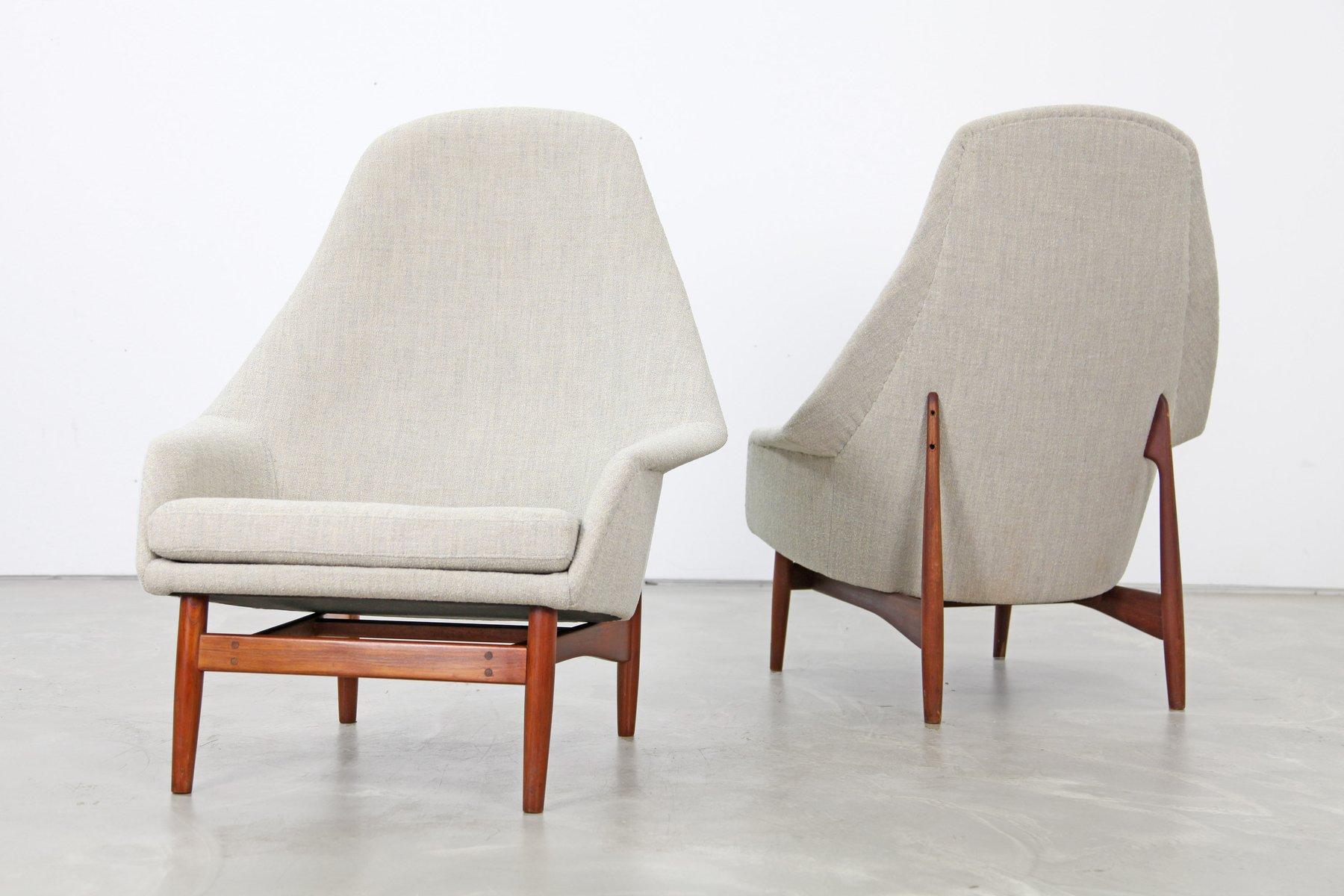 sessel mit hoher r ckenlehne von ib kofod larsen 1957. Black Bedroom Furniture Sets. Home Design Ideas