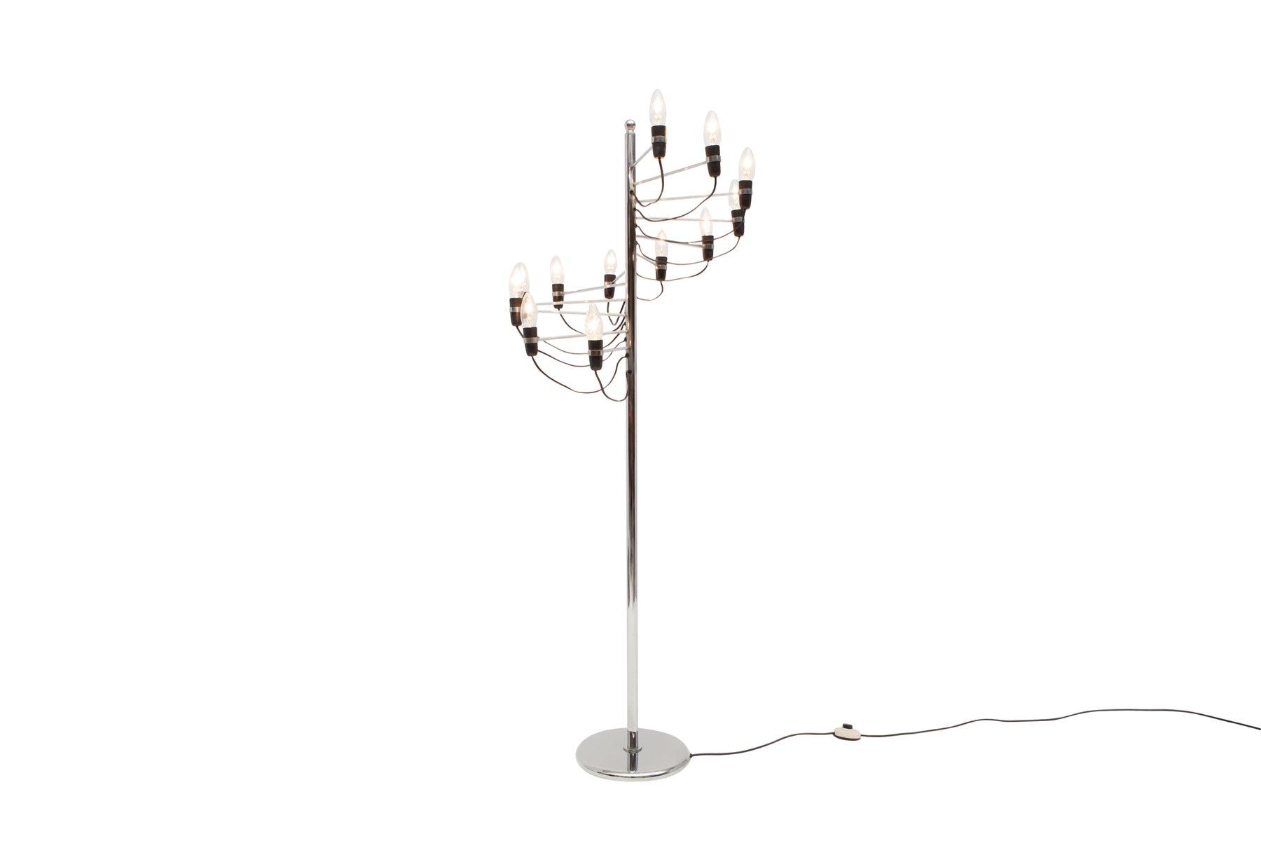 Spiral Bodenlampe von Gino Sarfatti für Flos, 1980er