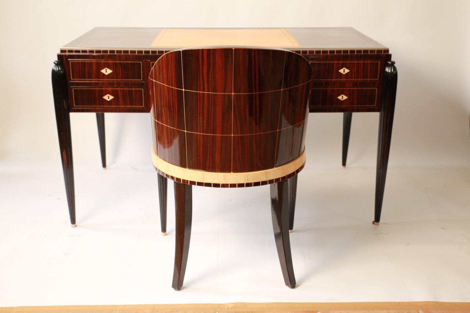 Art Déco Desk Chair Ensemble 1920s